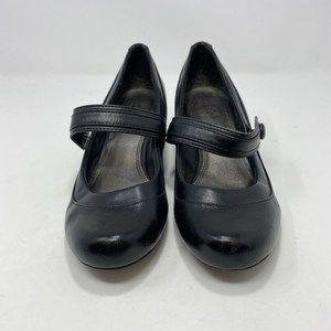 Life Stride Black Mary Jane Heels Size 9